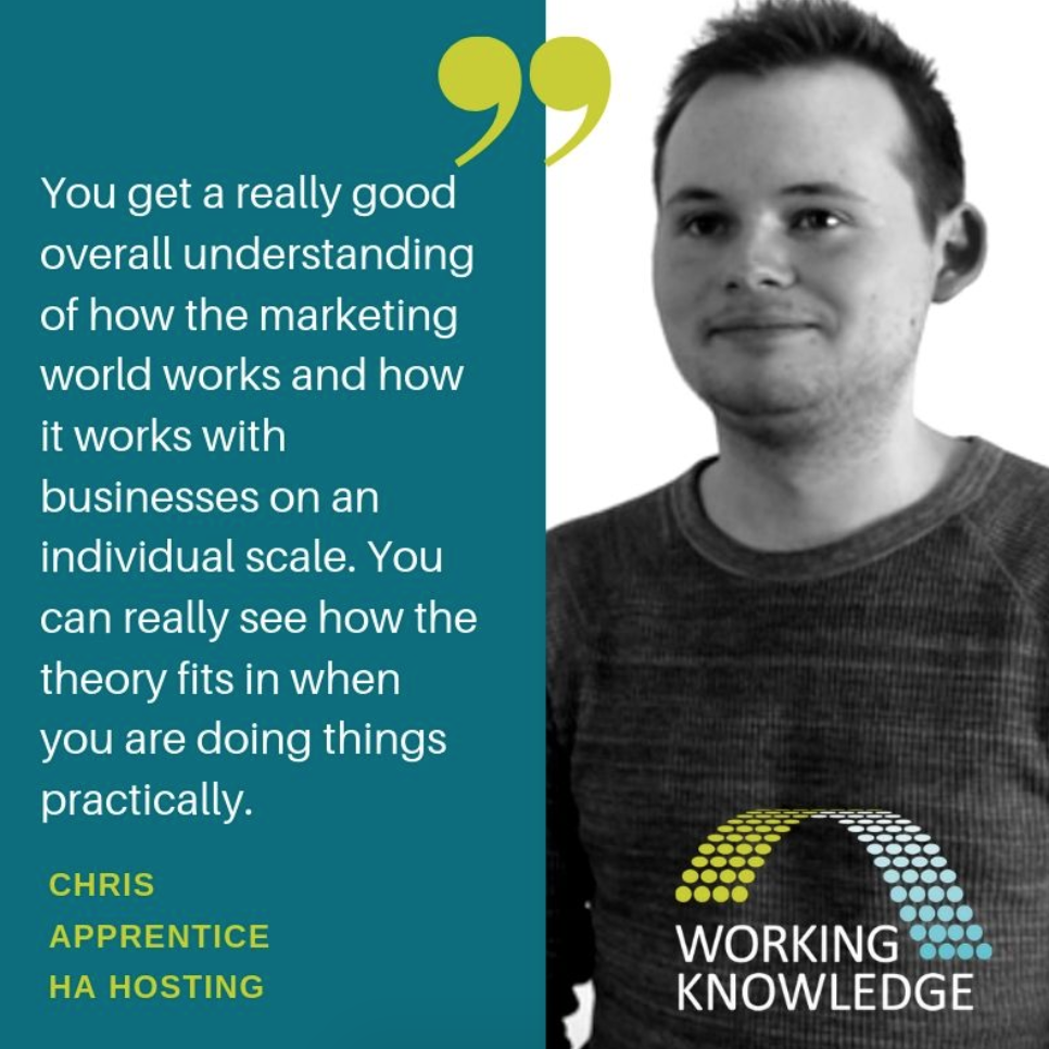 Chris - Digital Marketing Apprentice with Working Knowledge Group