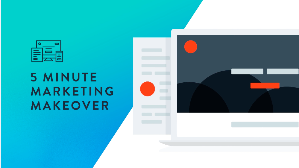 5 minute marketing makeover graphic